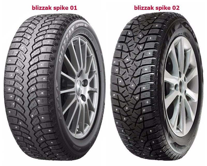 blizzak spike 01 в сравнении с blizzak spike 02
