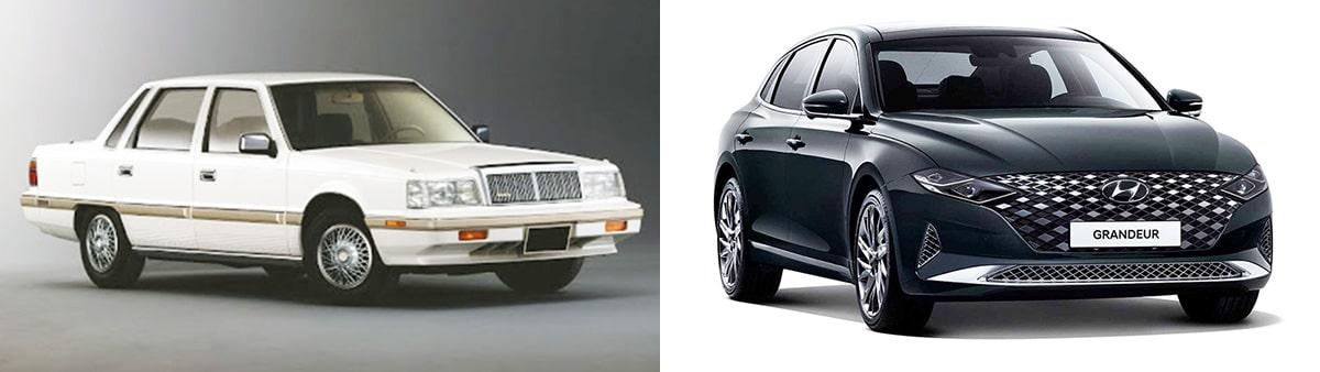 Hyundai Grandeur 1-uго и 6-го поколений
