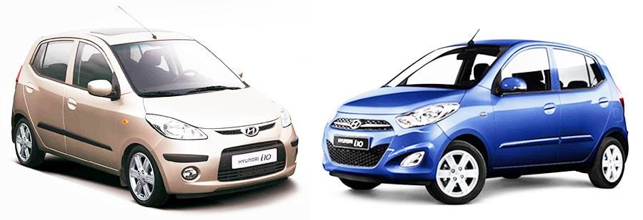Hyundai i10 первого и второго поколений